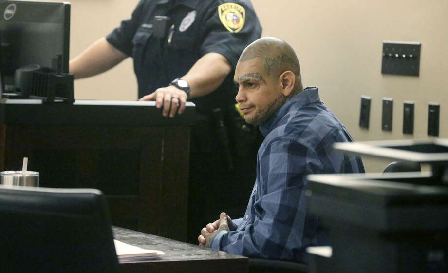 Murder defendant Gabriel Moreno sits Monday March 5, 2018 as witness testimony continues in the 379th State District Court. Witness Dr. Kimberly Molina of the Medical Examiner's office testified about the wounds inflicted on victim Jose Luis Menchaca and another witness from the M.E's office, Garon Foster, spoke about evidence. Menchaca,35, was beaten and dismembered and burned in a barbecue pit in 2014. Photo: John Davenport, STAFF / San Antonio Express-News / ©John Davenport/San Antonio Express-News