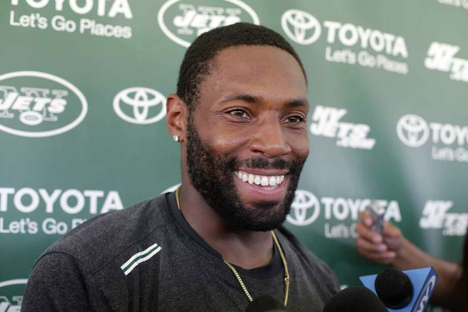"FILE - In this Aug. 4, 2015, file photo, New York Jets defensive back Antonio Cromartie responds to questions during a news conference after practice at NFL football training camp, in Florham Park, N.J. Veteran cornerback Antonio Cromartie announced his retirement from the NFL on Monday, March 5, 2018. The 11-year pro with four franchises posted a message on Instagram saying ""after 27 years of playing football, today I say farewell.""(AP Photo/Frank Franklin II) Photo: Frank Franklin II / Copyright 2018 The Associated Press. All rights reserved."