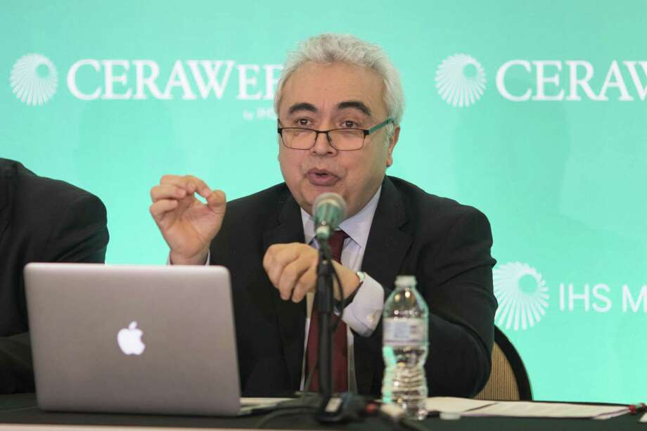 Fatih Birol, executive director of the International Energy Agency, speaks during the 2018 CERAWeek by IHS Markit conference in Houston, Texas, U.S., on Monday, March 5, 2018. CERAWeek gathers energy industry leaders, experts, government officials and policymakers, leaders from the technology, financial, and industrial communities to provide new insights and critically-important dialogue on energy markets. Photographer: F. Carter Smith/Bloomberg Photo: F. Carter Smith / Bloomberg / © 2018 Bloomberg Finance LP