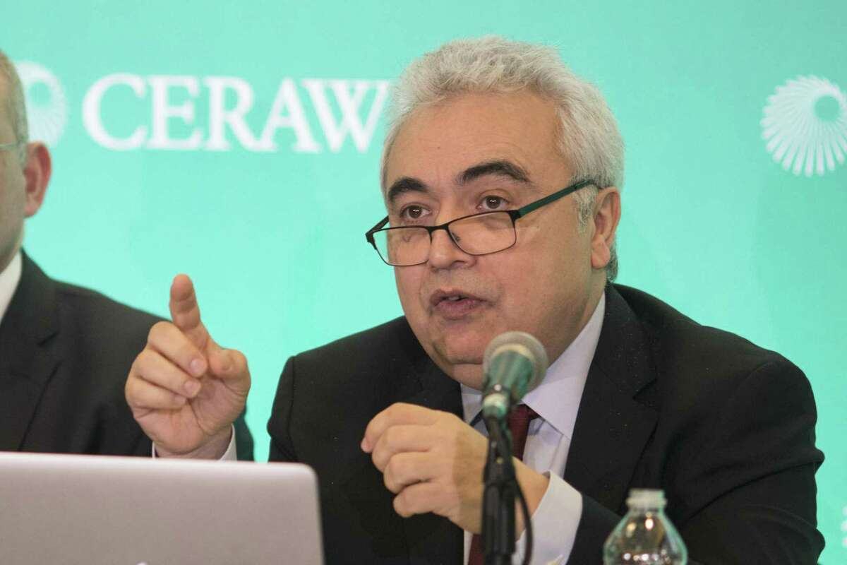 Fatih Birol, executive director of the International Energy Agency, speaks during the 2018 CERAWeek by IHS Markit conference in Houston, Texas, U.S., on Monday, March 5, 2018. CERAWeek gathers energy industry leaders, experts, government officials and policymakers, leaders from the technology, financial, and industrial communities to provide new insights and critically-important dialogue on energy markets. Photographer: F. Carter Smith/Bloomberg
