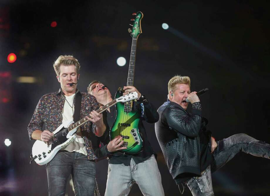 Rascal Flatts Joe Don Rooney, Jay DeMarcus and Gary LeVox perform at Rodeo Houston Monday, March 5, 2018, in Houston. Photo: Steve Gonzales, Houston Chronicle / © 2018 Houston Chronicle