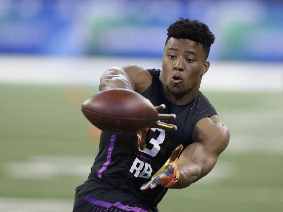 Penn State running back Saquon Barkley had perhaps the most impressive performance of the NFL combine putting him in discussions for the top overall pick of the upcoming NFL draft. Photo: Darron Cummings /Associated Press / Copyright 2018 The Associated Press. All rights reserved.