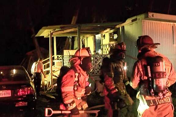 Conroe firefighters were called out to the fire in the 300 block of Porter Road just south of East Davis Street at the Pine Crest Mobile Home Park around 9 p.m. As firefighters entered the home, they found a man inside who required CPR