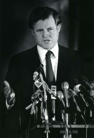 Senator Edward M. Kennedy speaks in the New York State Capitol building in Albany on March 5, 1980. (Skip Dickstein / Times Union)