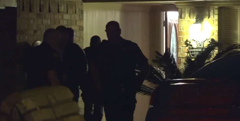 Deputies investigated a home invasion in the 8200 block of Enchanted Forest Drive. A man was beaten and shot during the attempted burglary, Tuesday March 6, 2018. Photo: Metro Video