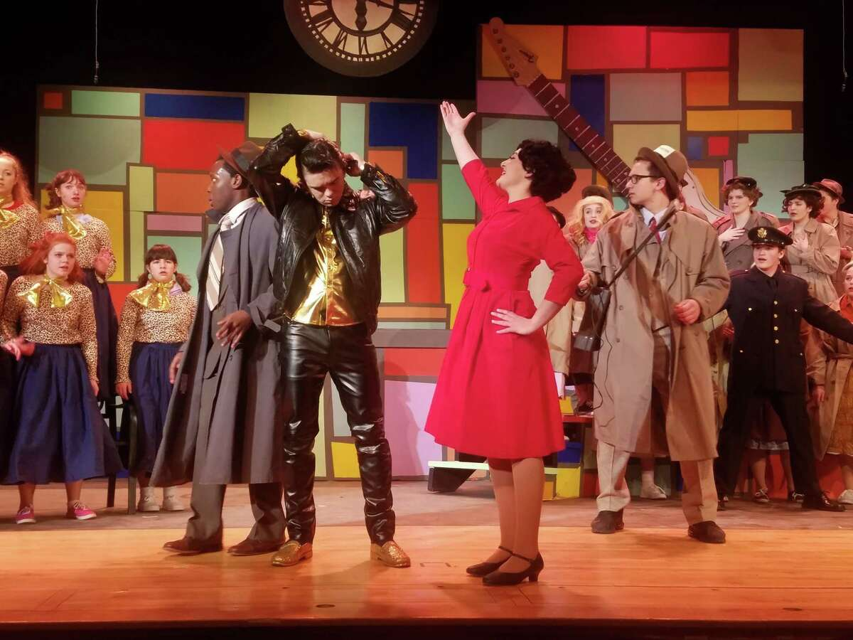 Rehearsals for Queensbury High School's production of