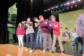 "Rehearsals for Tamarac High School's production of ""Damn Yankees."""