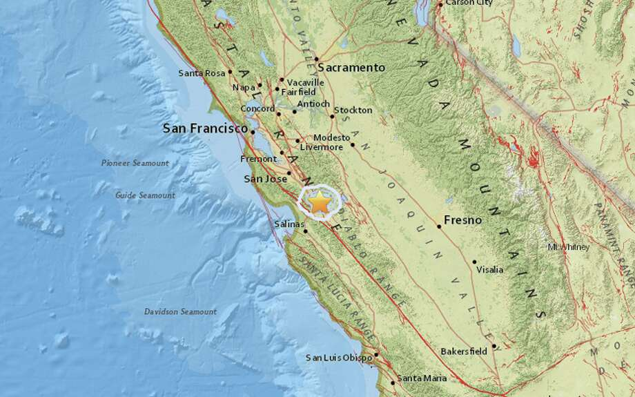 a magnitude 3 3 earthquake struck near gilroy on march 6 2018 photo usgs