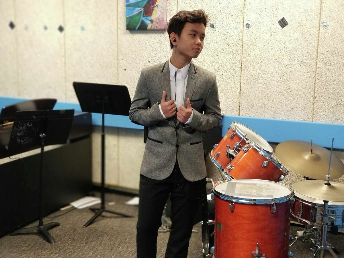 Lee Reh in the Albany High School music wing (image from facebook.com/leerehsmusic)