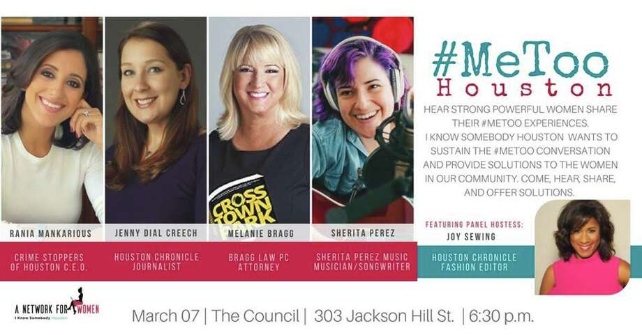 I Know Somebody Houston hosts #MeToo Houston, a conversation of empowerment with a panel of distinguished Houston women, on Wed. Tickets are $25.  Photo: I Know Somebody Houston