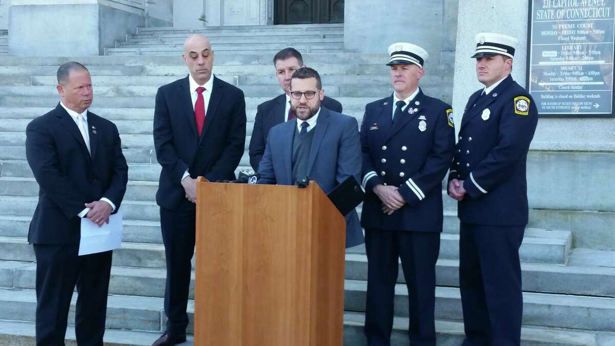 New Haven's firefighters?' union, Local 825, announced Tuesday the filing ofa four-count lawsuit against the Uniformed Professional Fire Fighters Association of Connecticut, a union which represents the state?'s fire departments, alleging a breach of fiduciary duty.