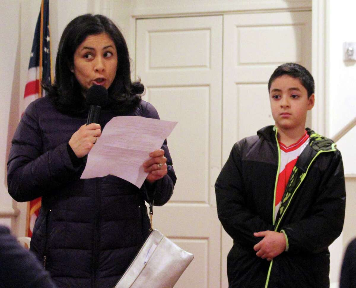 A Fairfield woman and her son spoke in favor of increased gun control at the