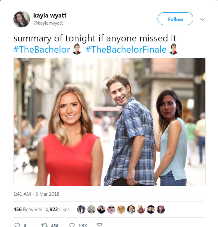 The best social media reactions to The Bachelor finale on Monday, March 5, 2018. Photo: Twitter