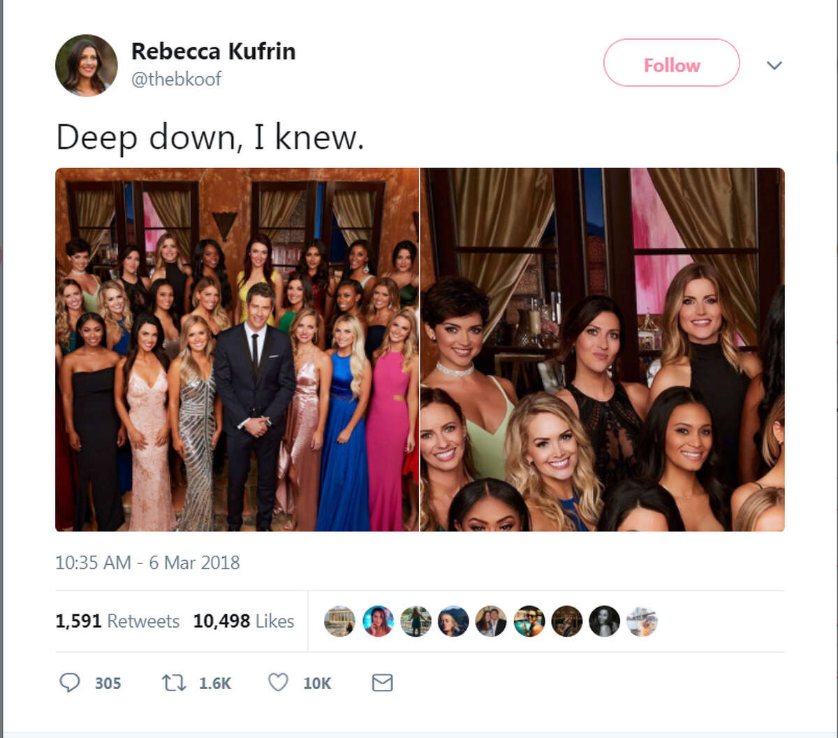 Best social media reactions to The Bachelor finale on Monday, March 6, 2018.