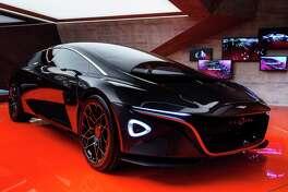 Aston Martin introduced the Lagona Vision Concept at the 2018 Geneva Motor Show.