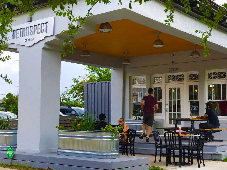 Where to get coffee: Retrospect Coffee+Wine+Beer is housed in what was the city's first Gulf Oil service station on LaBranch in Midtown. Photo: Courtesy Photo