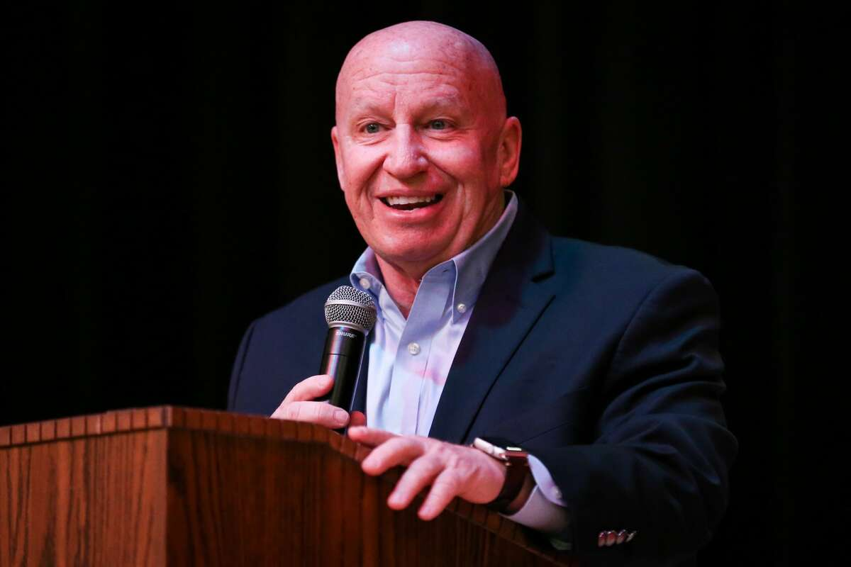 U.S. Rep. Kevin Brady, R-The Woodlands, speaks during the Public Republican Candidate Forum hosted by Magnolia Area Republican Women on Monday, Jan. 15, 2018, at Magnolia Parkway Elementary.