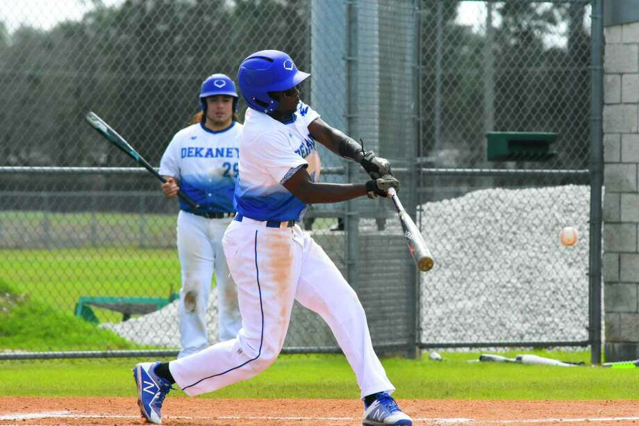 Dekaney senior P/OF Joseph Sanders brings speed to the lineup and is able to steal multiple bases per game, bringing that type of dynamic aspect to the team. Photo: Tony Gaines/ HCN, Staff / Houston Chronicle