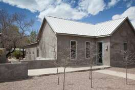 """309 N. Highland Ave. Marfa, Texas : This Texas home. which was built in 1900 and renovated by designer Barbara Hill in 2005, is now for sale. It was featured by the  New York Times in 2006, being described as , """"The effect is overwhelming serenity, as if everything is precisely where it should be."""""""