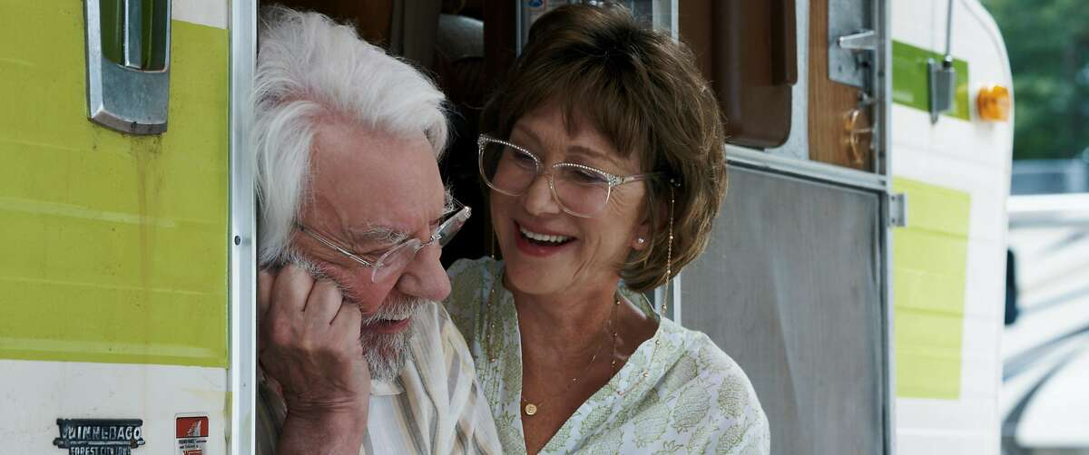 "Donald Sutherland and Helen Mirren in ""The Leisure Seeker."""