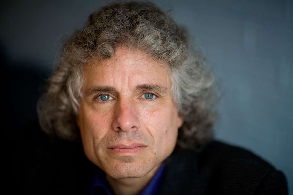 Humans, says Steven Pinker, are unique in thinking up solutions to problems to fight back over time against forces that would serve to make us unhappy.