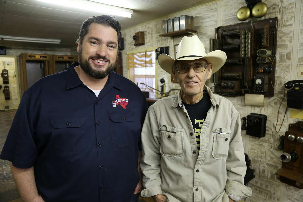 Host of The Texas Bucket List Shane McAuliffe interviews Moe Spradley of McGregor, Texas. Spradley, who worked for Southwestern Bell for 30 years, is known for his eclectic collection of telephones.
