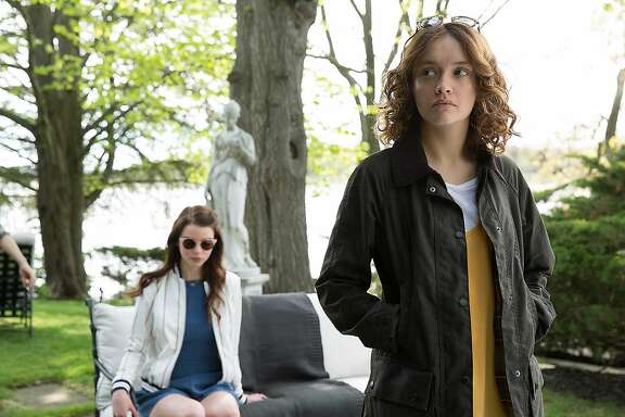 """Anya Taylor-Joy and Olivia Cooke in the film """"Thoroughbreds."""""""