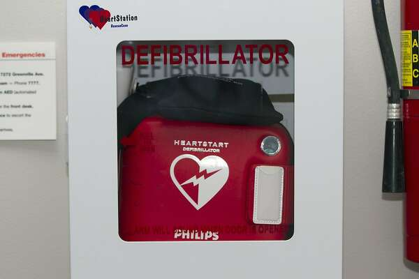 A new study, partly funded by the National Institutes of Health, found that people are more likely to survive a cardiac arrest if a bystander uses an automated external defibrillator (AED) like the ones pictured here while waiting for emergency medical services to arrive.