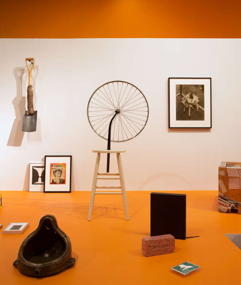 Installation view, Rose Ocean: Living With Duchamp, on view a the Frances Young Tang Teaching Museum and Art Gallery at Skidmore College, through May 20. Photograph by Art Evans.