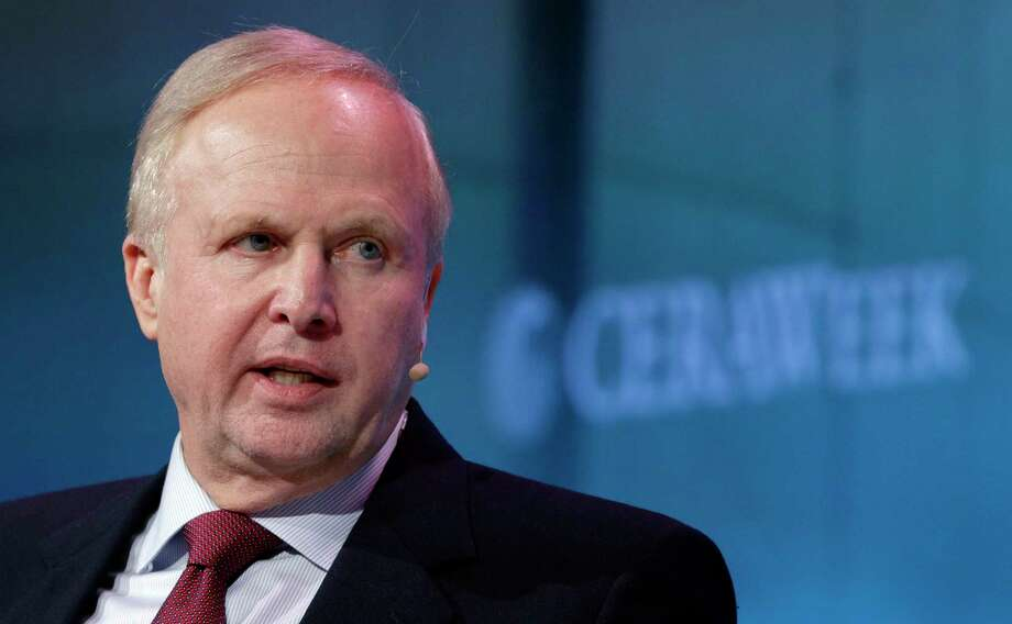 BP Chief Executive Bob Dudley answers questions from moderator Dan Yergin during a Q&A session after Dudley's speech at CERAWeek held at the Hilton Americas Hotel Tuesday, Mar. 6, 2018 in Houston, TX. (Michael Wyke / For the  Chronicle) Photo: Michael Wyke, For The Chronicle / © 2018 Houston Chronicle