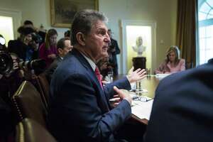 Sen. Joe Manchin, a Democrat from West Virginia, speaks during a meeting with U.S. President Donald Trump, along with other members of Congress. Manchin is one of only three Democratic senators with less than 100 percent ratings from Planned Parenthood, a sign of the waning of the two-wing party.
