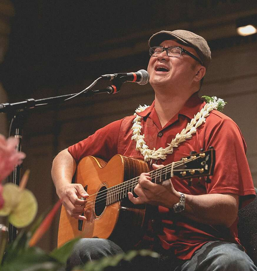 """Patrick Landeza  performs this month at the Cue in Concord. """"It's aloha everywhere,"""" he says of the venue. Photo: Courtesy Patrick Landeza"""