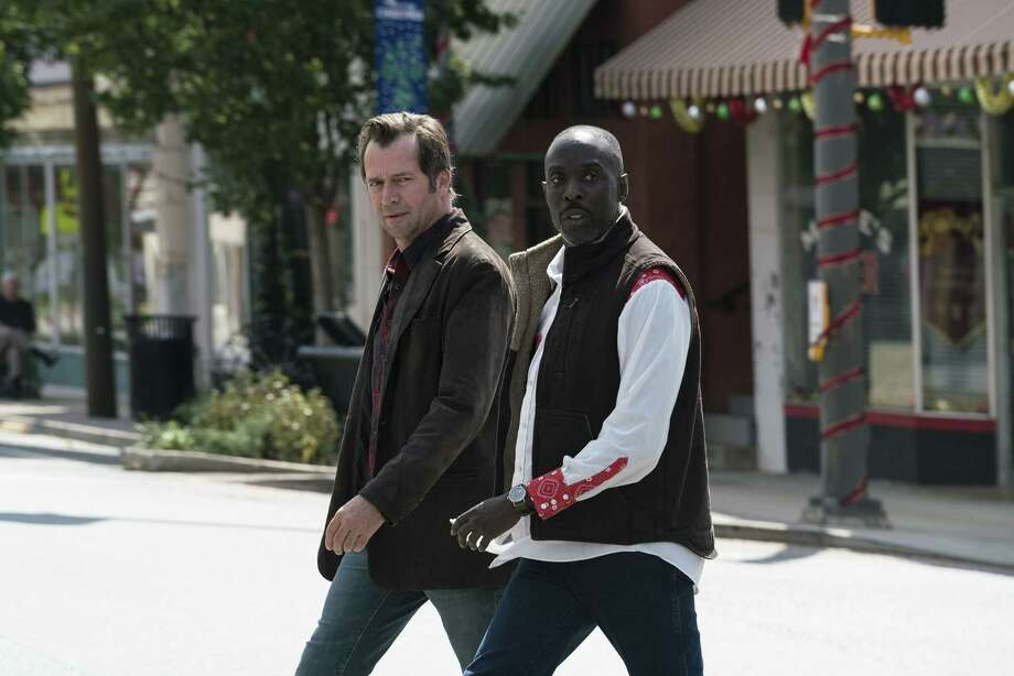 James Purefoy as Hap Collins, Michael K Williams as Leonard Pine; Hap and Leonard _ Season 3, Episode 1 - Photo Credit: Jace Downs/SundanceTV Photo: Credit: Jace Downs/SundanceTV / © 2017 SundanceTV. Credit: Jace Downs/SundanceTV