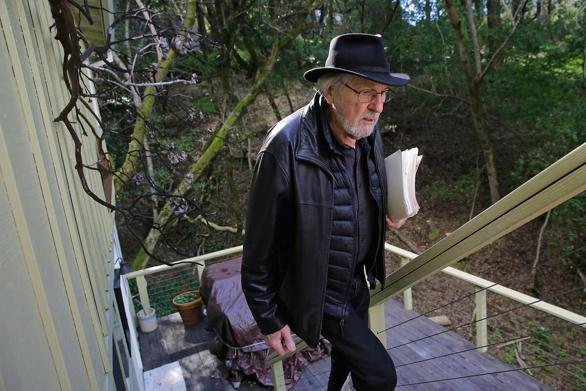 Dave Henderson the president of the Fitch Mountain Homeowners Association, at his rural home in just outside of Healdsburg, Calif., on Mon. Feb. 26, 2018. Henderson is constantly encouraging homeowners in the neighborhood to provide defensible space around their homes.