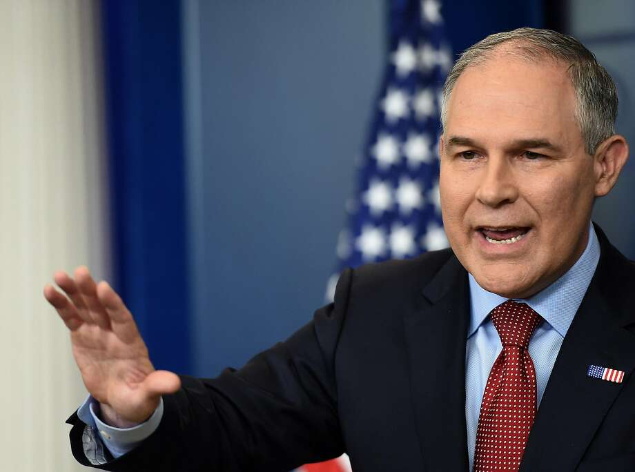 EPA Administrator Scott Pruitt warns California won't dictate the future of ambitious automobile fuel economy regulations enacted by President Obama. Photo: Molly Riley, TNS