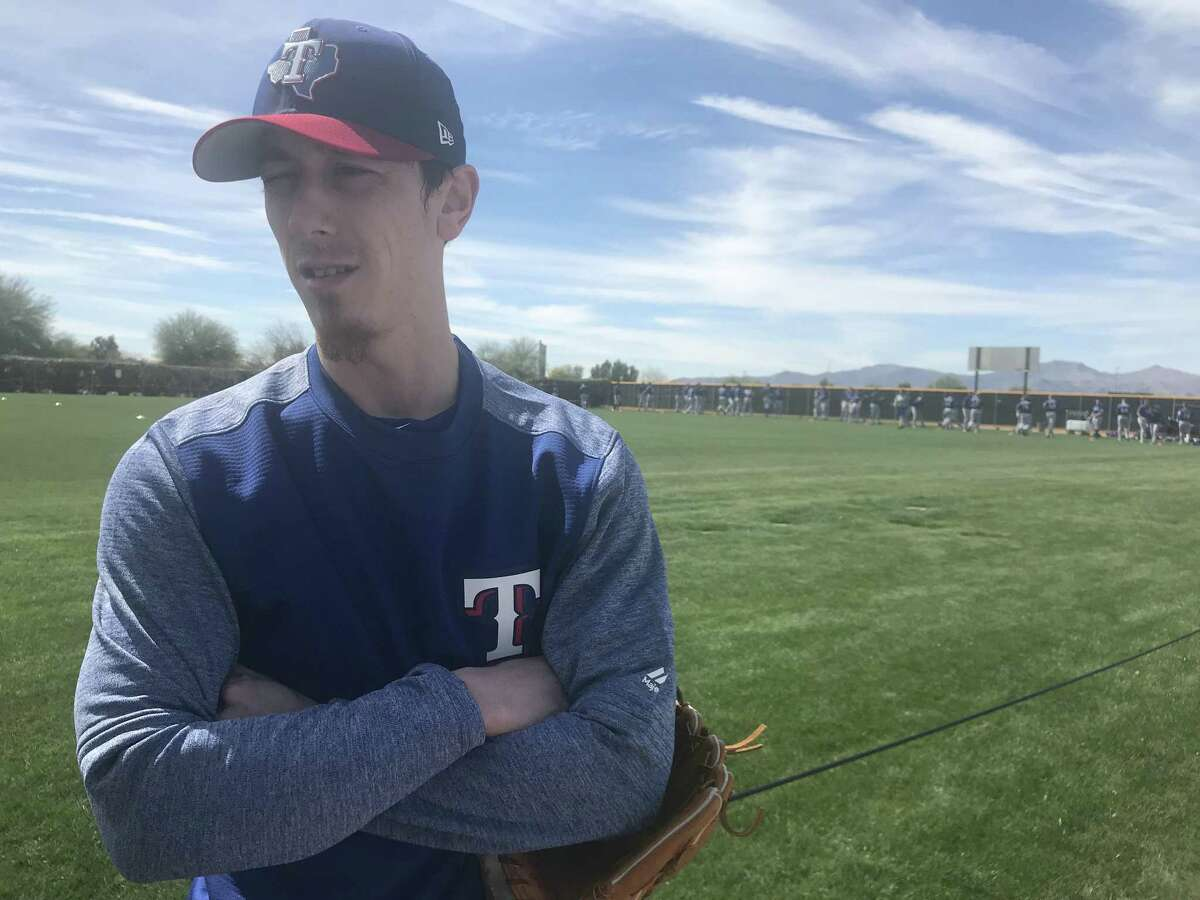 Former San Francisco Giants pitcher Tim Lincecum in camp with the Texas Rangers in Surprise, Ariz., on March 6, 2018.