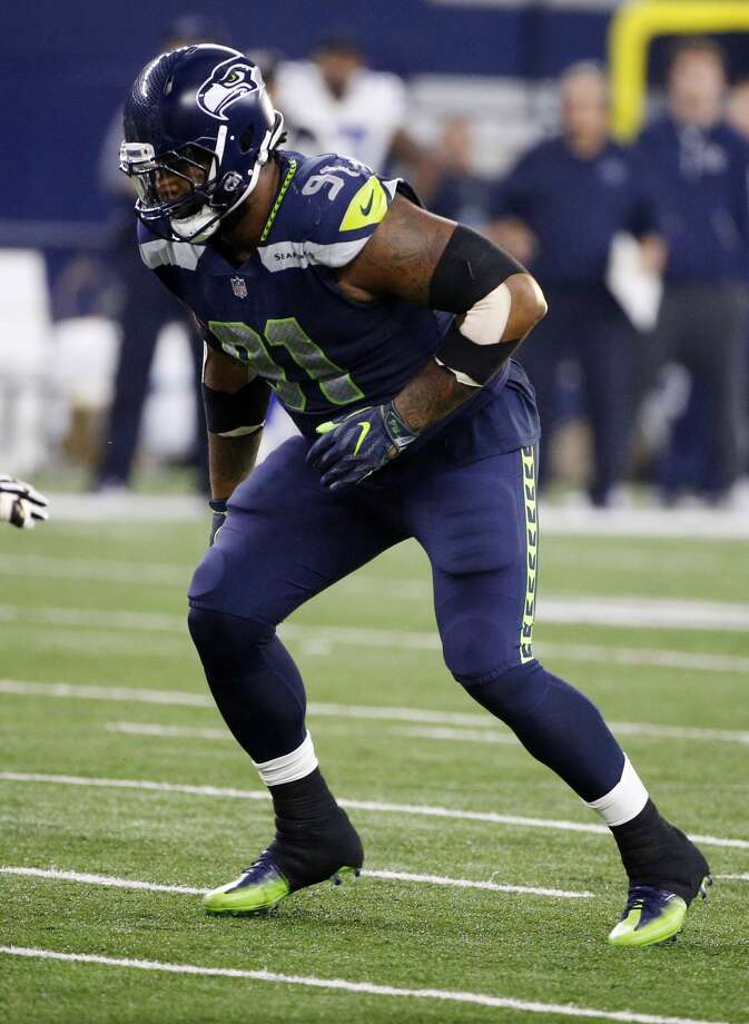 Seattle Seahawks defensive tackle Sheldon Richardson (91) rushes against the Dallas Cowboys during an NFL football game, Sunday, Dec. 24, 2017, in Arlington, Texas. (AP Photo/Michael Ainsworth) Photo: Michael Ainsworth/AP