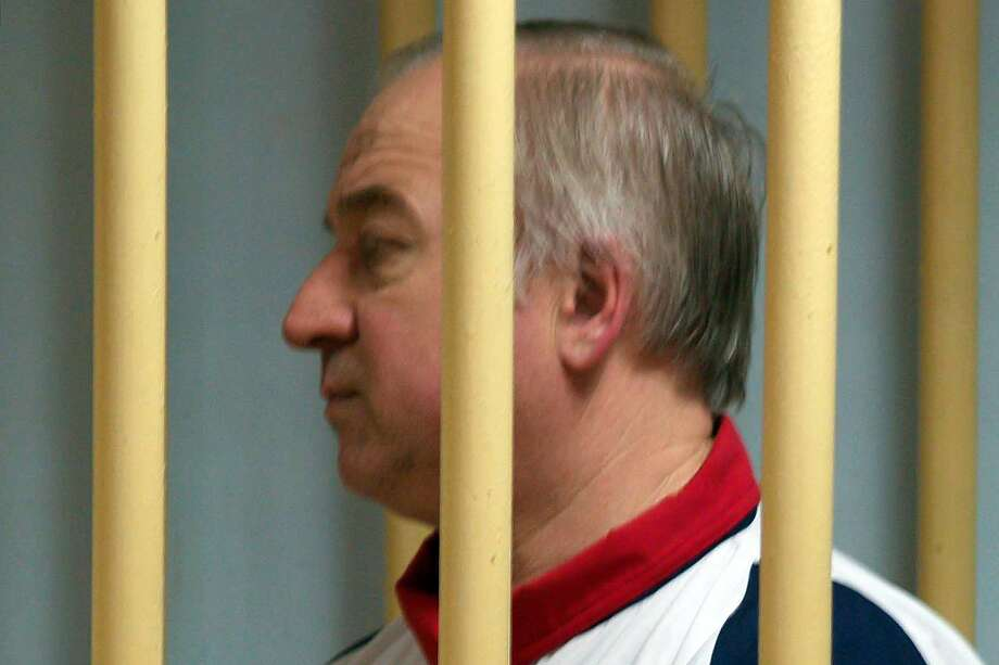 Former Russian military intelligence colonel Sergei Skripal attends a hearing at the Moscow District Military Court in Moscow on August 9, 2006. Sergei Skripal, a former Russian double agent whose mysterious collapse in England sparked concerns of a possible poisoning by Moscow, has been living in Britain since a high-profile spy swap in 2010. Police were probing his exposure to an unknown substance, which left him unconscious on a bench in the city of Salisbury and saw media draw parallels to the case of Alexander Litvinenko, an ex-spy who died of radioactive polonium poisoning in 2006.  / AFP PHOTO / Kommersant Photo / Yuri SENATOROV / Russia OUTYURI SENATOROV/AFP/Getty Images Photo: YURI SENATOROV, AFP/Getty Images