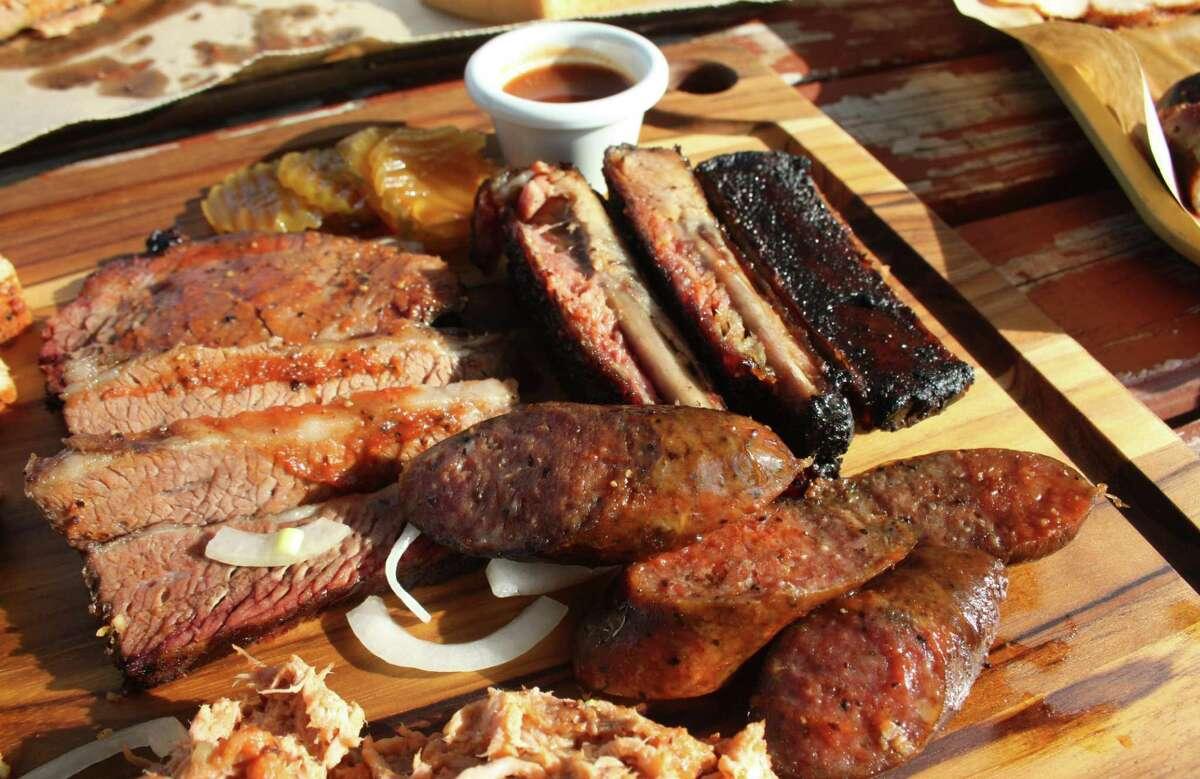 Bushwood BBQ includes brisket ($20 per pound), spare ribs ($15 half rack, $25 full rack or $3 individually) and sausage ($9 per pound) that is a beef and pork mixture.