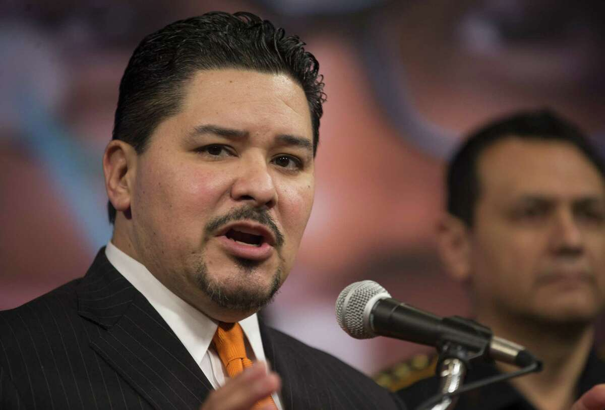 HISD Superintendent Richard Carranza speaks to the media during a press conference addressing security at Houston-area schools, Wednesday, Feb. 21, 2018, in Houston. ( Mark Mulligan / Houston Chronicle )