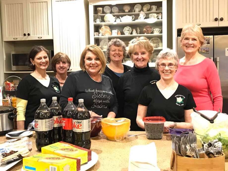 Preceptor Beta Psi Clifton Park chapter members recently volunteered at the Ronald McDonald House in Albany, preparing meals for about 50 residents. Chapter member Cheryl Cella provided many of the food items used to create a beef taco meal. The chapter will provide another meal in May.  Area women who would be interested in helping with the project can call Kathy Hedrick at 518 371-2450. SHown re Ann Deitz, Jane Steiner, Marcia Russell, Laura Perrault, Kathie Hedrick, Loretta Parsons & Donna Turner and (Submitted photo)
