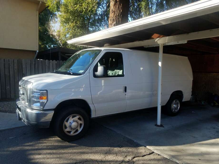 Jason Ravanell, 51, plans to move into this van later in the year. Photo: Jason Ravanell