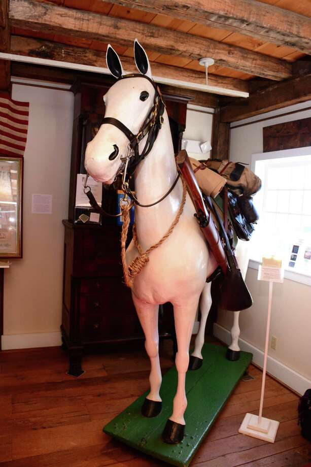 The papier-mache horse named Chief Waramaug. Photo: Hearst Connecticut Media File Photo / The News-Times Freelance