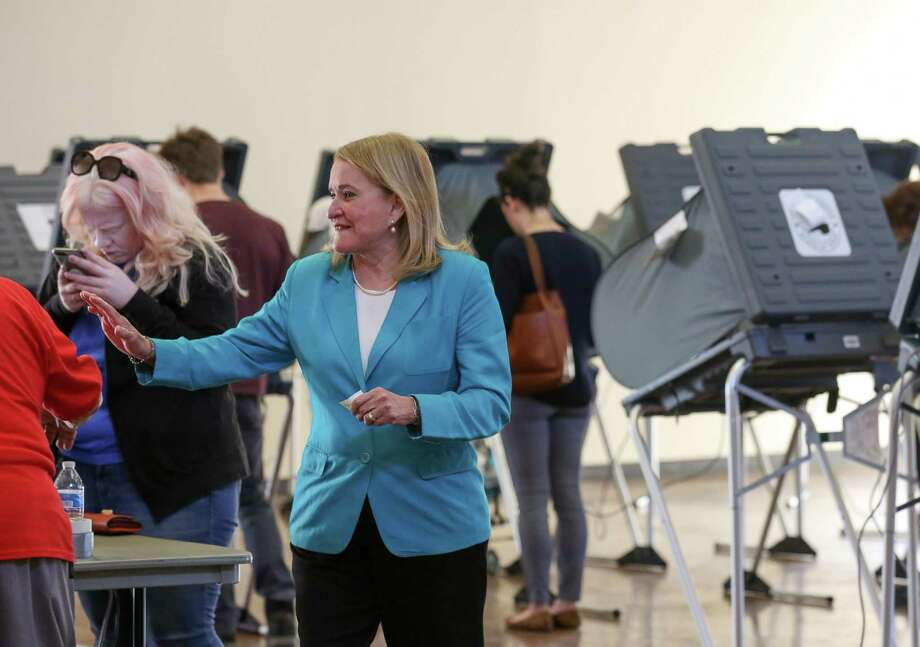 Senator Sylvia Garcia exits the polling station casts at the Montie Beach Community Center after voting Tuesday, March 6, 2018, in Houston. ( Godofredo A. Vasquez / Houston Chronicle ) Photo: Godofredo A. Vasquez / Houston Chronicle