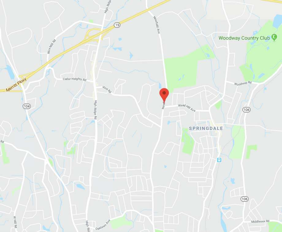 Stamford police confirm a pedestrian was struck on Newfield Avenue on Tuesday, March 6, 2018. Photo: Google Maps