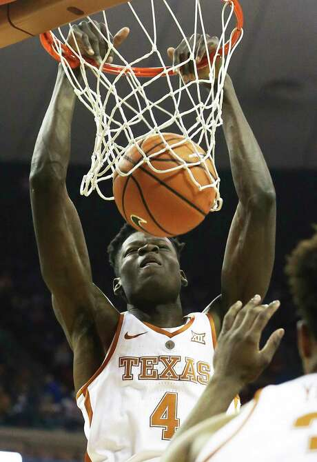 Texas doesn't expect Mo Bamba to play tonight against Iowa State, but he should return from a toe injury if the Longhorns advance. Photo: Tom Reel, Staff / 2017 SAN ANTONIO EXPRESS-NEWS