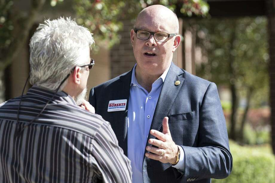Republican Kevin Roberts uses a new video to strike back at a serious of negative attacks he says is coming from his opponents supporters. Roberts is running for the 2nd Congressional District. ( Brett Coomer / Houston Chronicle ) Photo: Brett Coomer, Staff / Houston Chronicle / © 2018 Houston Chronicle