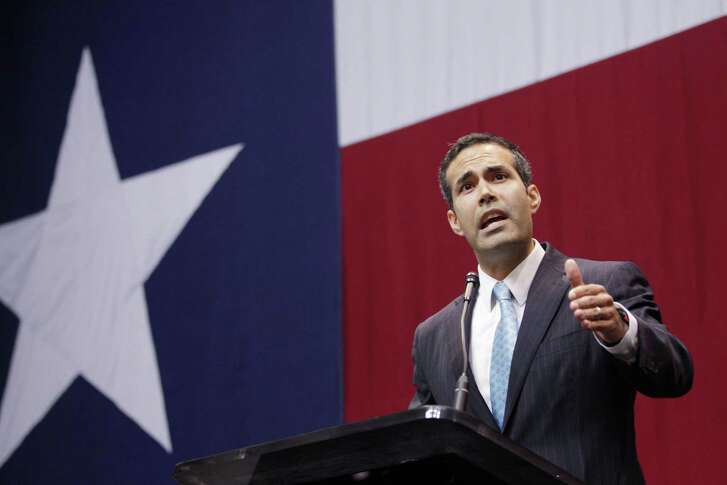 George P. Bush, the new Texas Land Commissioner, speaks at Texas Governor-elect's Greg Abbott election party in Austin, Texas, on Tuesday, Nov. 4, 2014. (Vernon Bryant/Dallas Morning News/MCT)