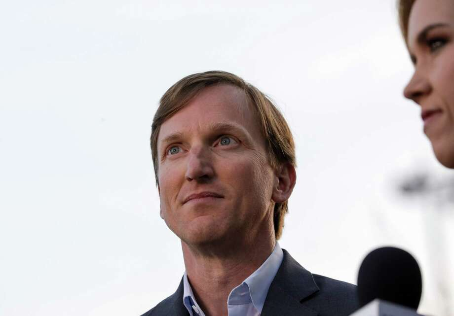 Andrew White, a democratic candidate for governor, waits to talk to a television reporter before an election watch party at Raven Tower, Tuesday, March 6, 2018, in Houston. Photo: Jon Shapley, Houston Chronicle / © 2018 Houston Chronicle
