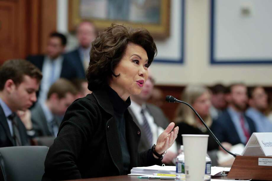 Transportation Secretary Elaine Chao testifies before the House Transportation and Infrastructure Committee on President Donald Trump's trillion-dollar-plus plan to boost infrastructure, on Capitol Hill in Washington, Tuesday, March 6, 2018. (AP Photo/J. Scott Applewhite) Photo: J. Scott Applewhite / Copyright 2018 The Associated Press. All rights reserved.